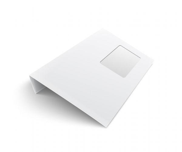 Briefumschläge mit Fenster (haftklebend) unbedruckt