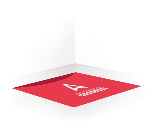 Fußbodenaufkleber