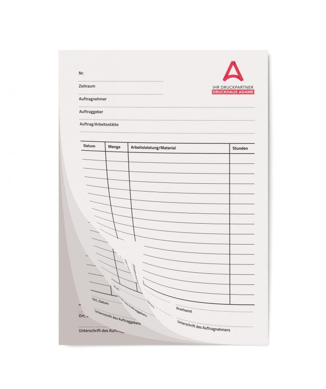 Durchschreibesätze 4-fach Standard als Einzelsatz